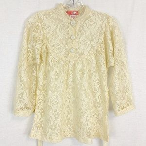 Urban Outfitters Lace Mock Neck Vtg Style Top
